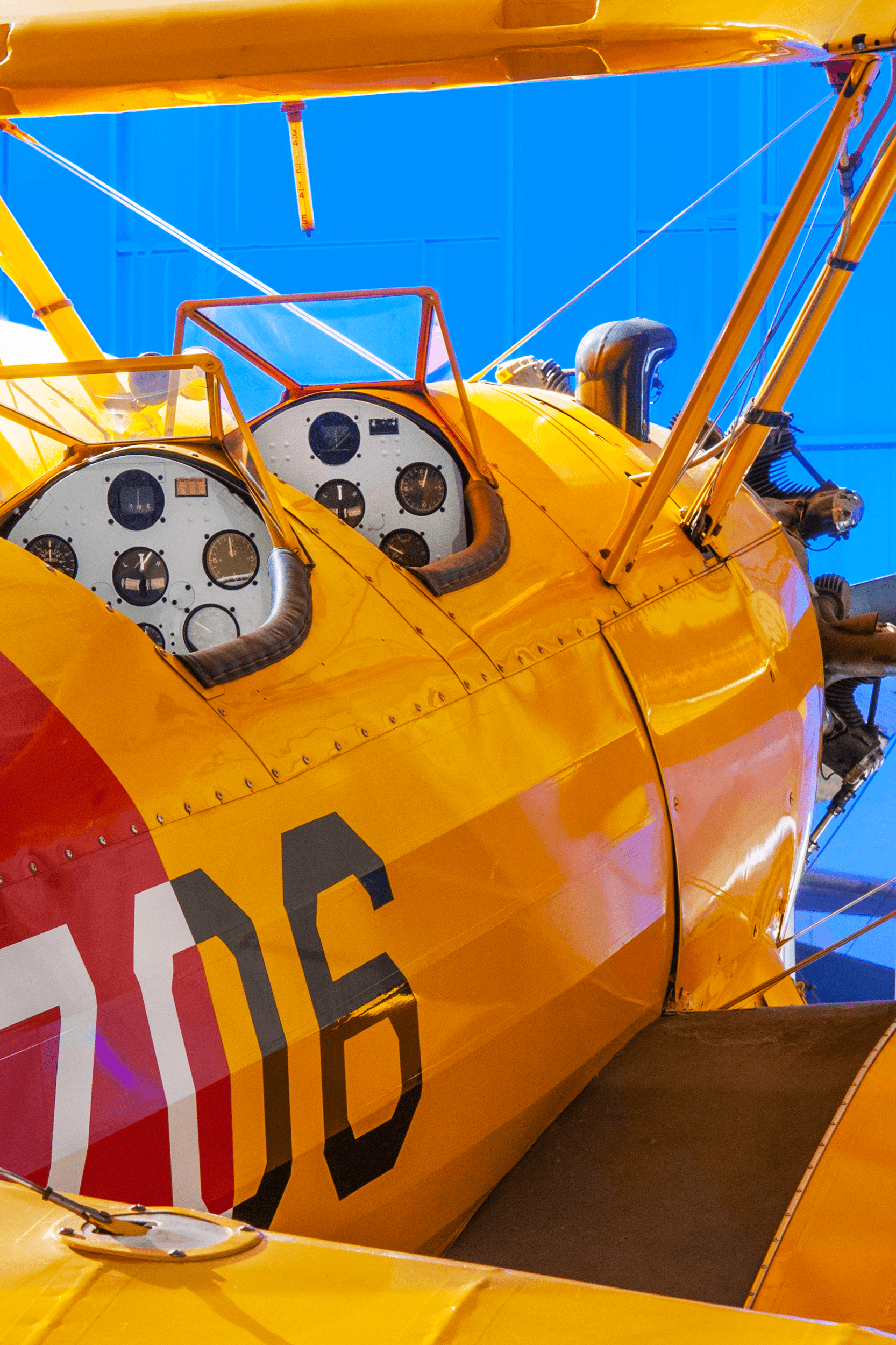After WWII, military Kaydets sold for as little as $250. They were used as crop dusters and seeders. The aircraft was also popular at air shows, particularly for wing-walking events. Today the Kaydet is one of the most sought-after antique planes.