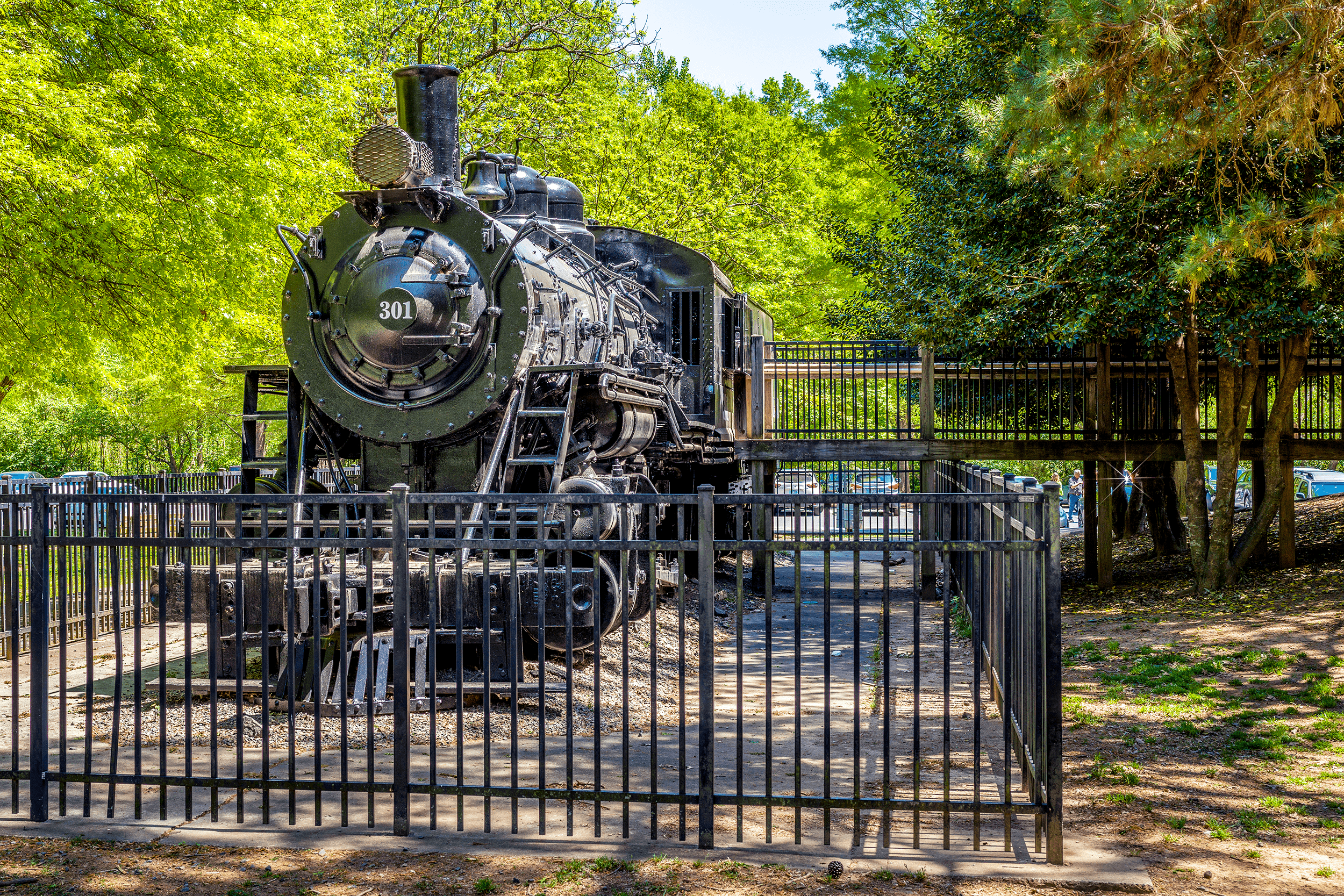 This original steam engine was built in 1920 and ran on the  Gainesville Midland Railroad  in Georgia and was one of the last steam locomotives in regular service in this part of the country.