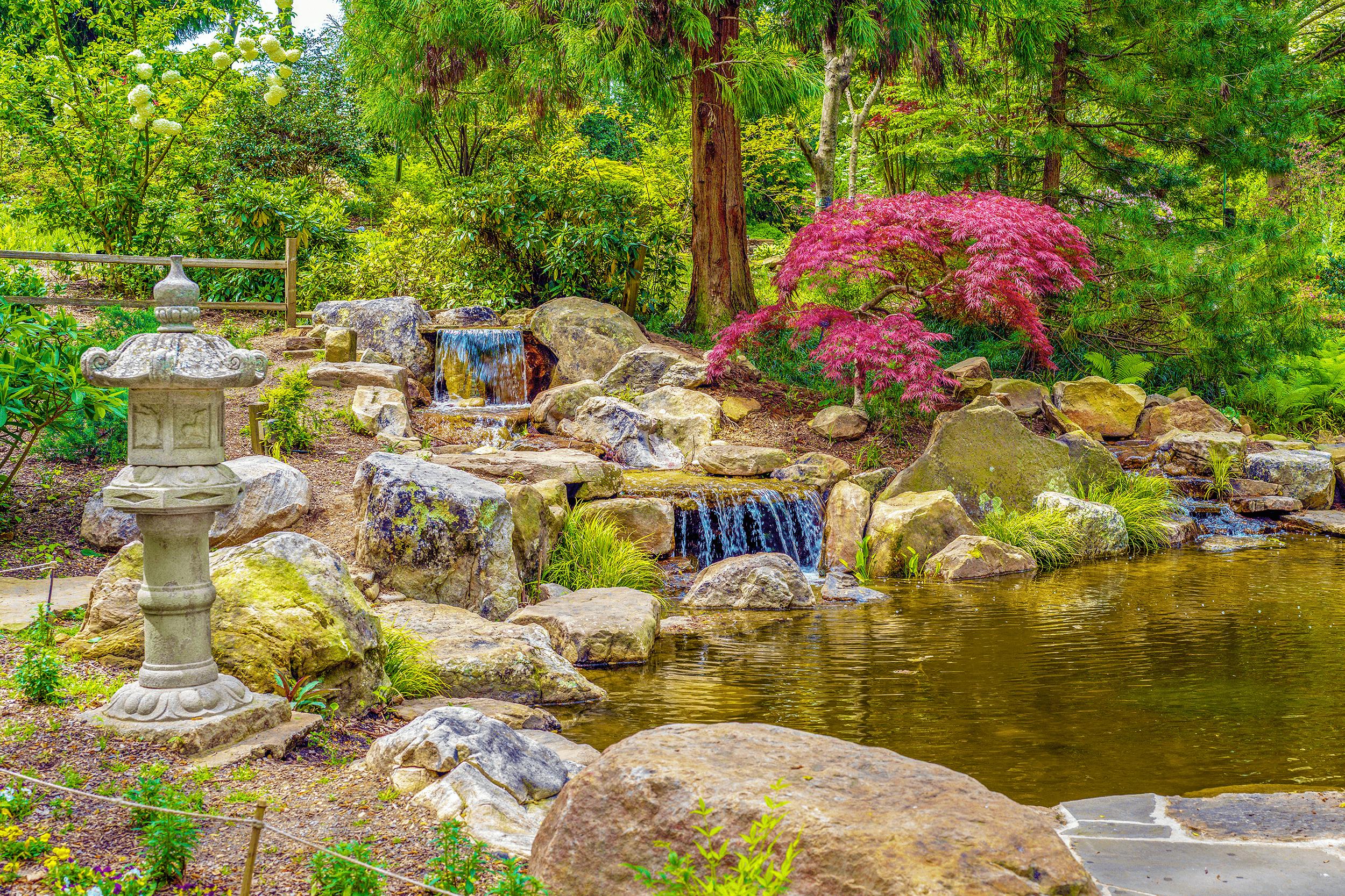 Enjoy the serenity of this beautiful garden.