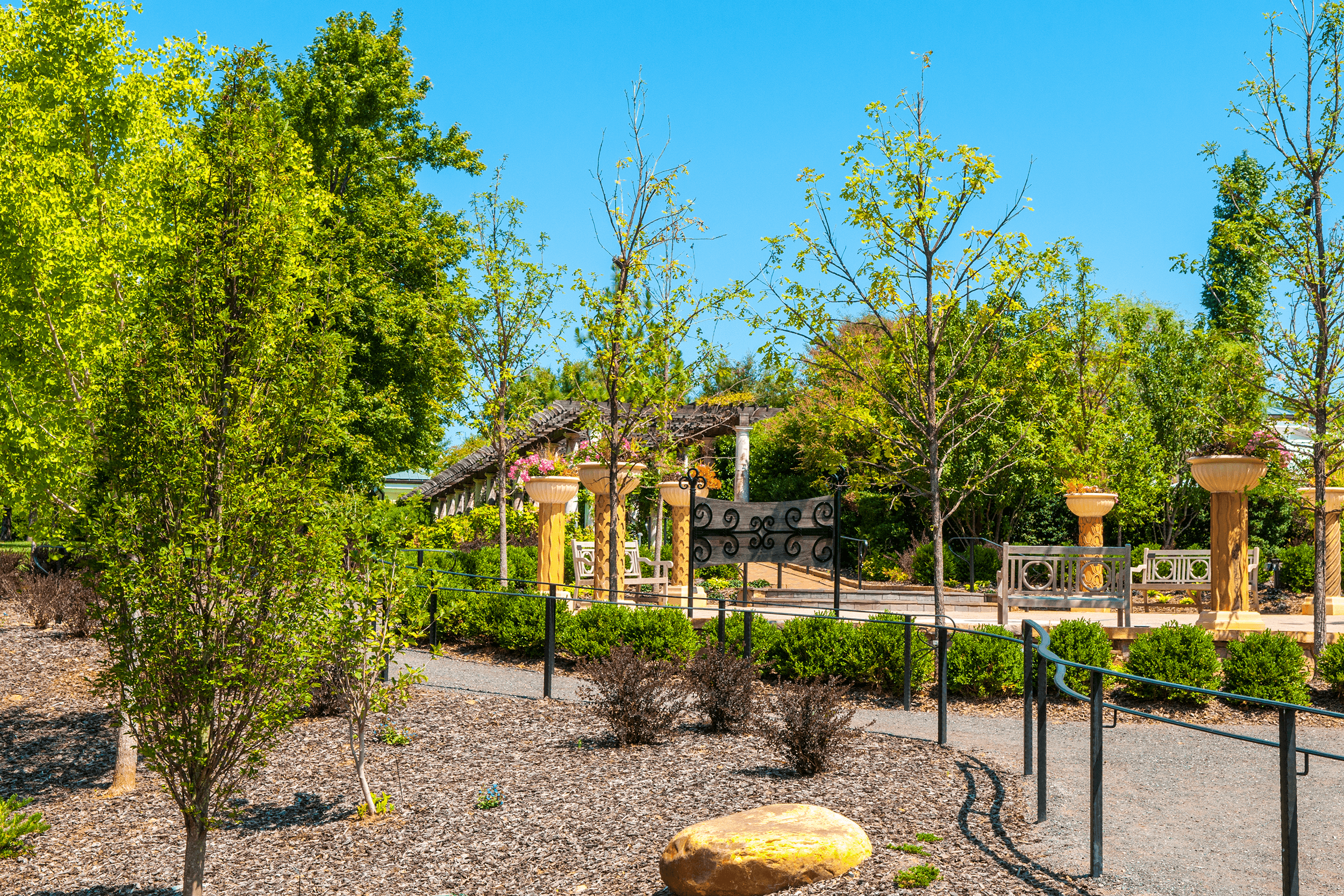 The Garden first opened in 1999 with only the  Visitor Pavilion , the  Formal Display Garden  and the  Perennial Gardens  completed. However, this is precisely what Daniel Stowe had in mind: The Botanical Garden was to grow in phases over 50 years. The  White Garden  was added in 2003.