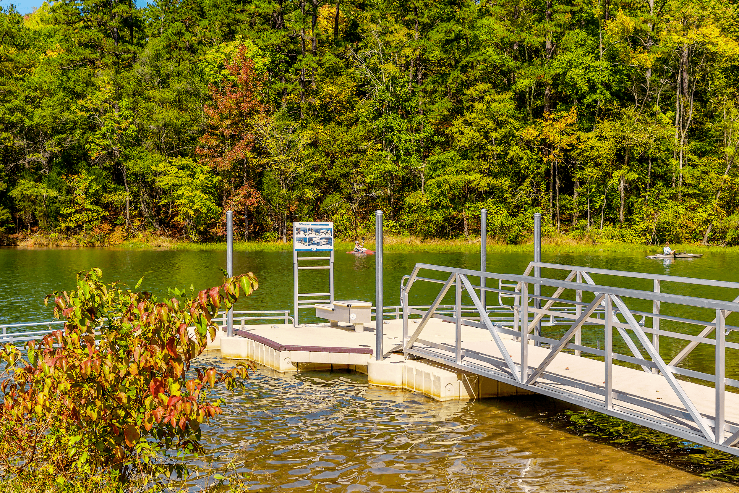 The northern Canoe Launch for  Mountain Island Lake  is a perfect place to launch your canoe for a peaceful paddle. Limited car parking is available.