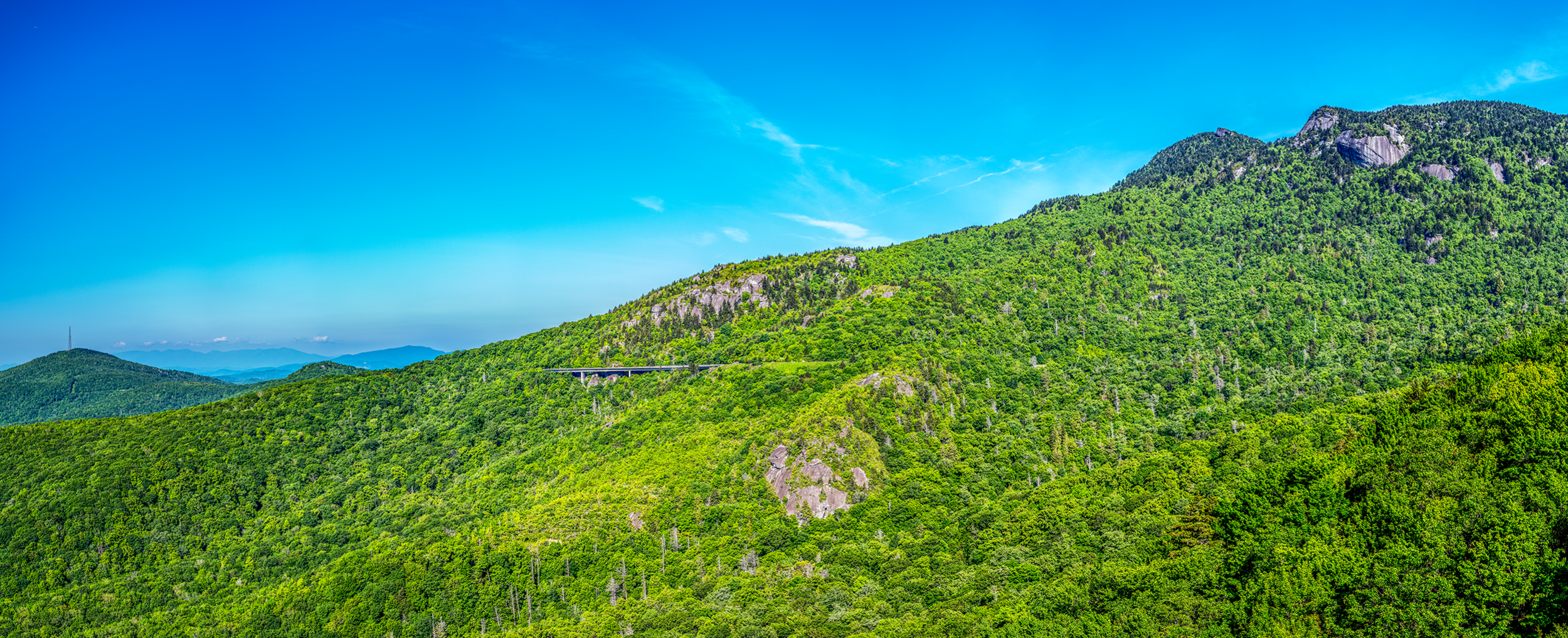 A traditional cut-and-fill road would have caused much damage to the fragile environment of  Grandfather Mountain . It was only in the late 1970s, when environmentalists, adjacent landowners, engineers, and architects were able to come up with a technical solution, which preserved this beautiful and fragile environment.