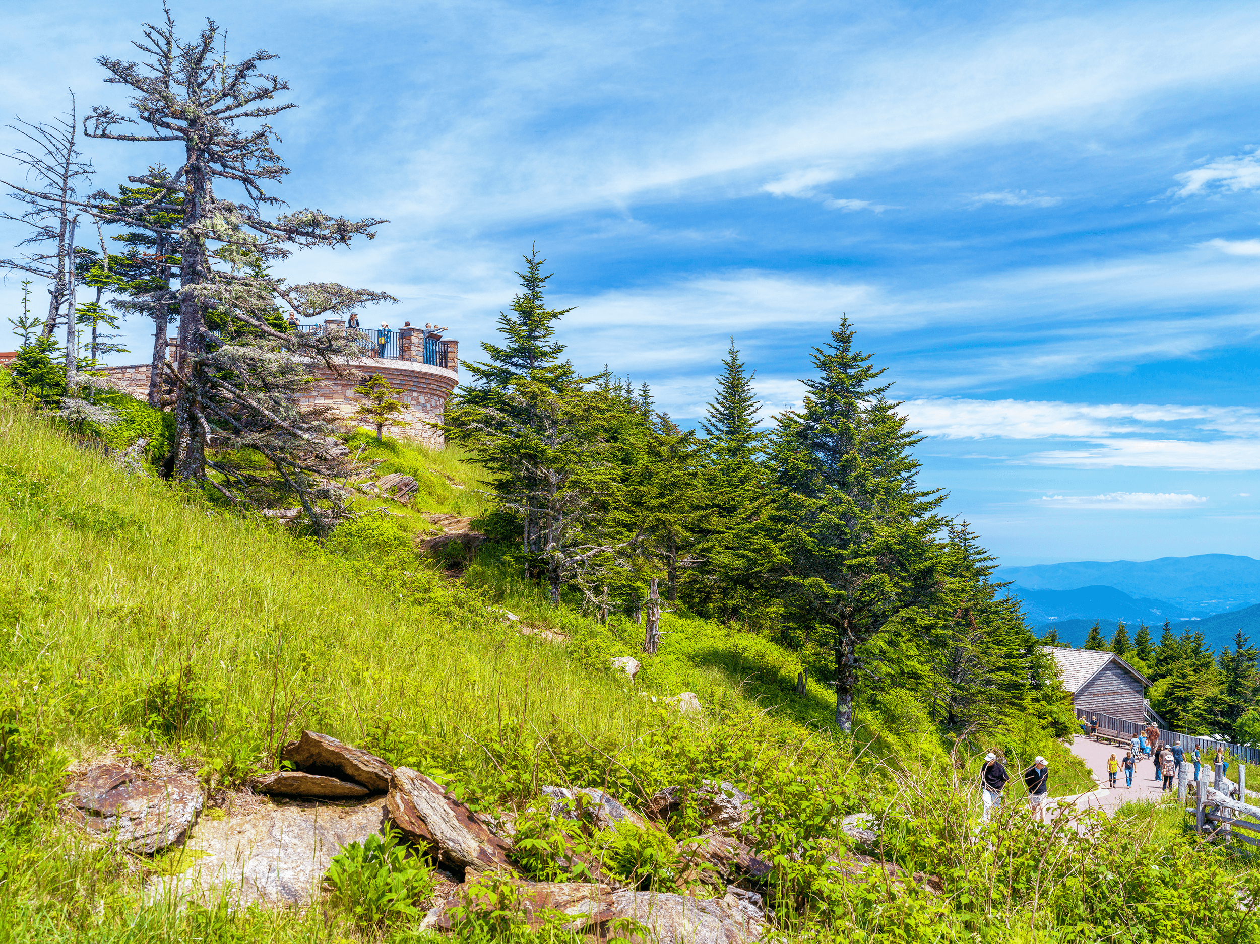 With an elevation of 6,684 feet (2,037 m),  Mount Mitchell  is the highest peak of the Appalachian Mountains and the highest mountain east of the Mississippi River. Before 1882 Mount Mitchell was known as  Black Dome , named for its rounded shape and its location in the Black Mountains.