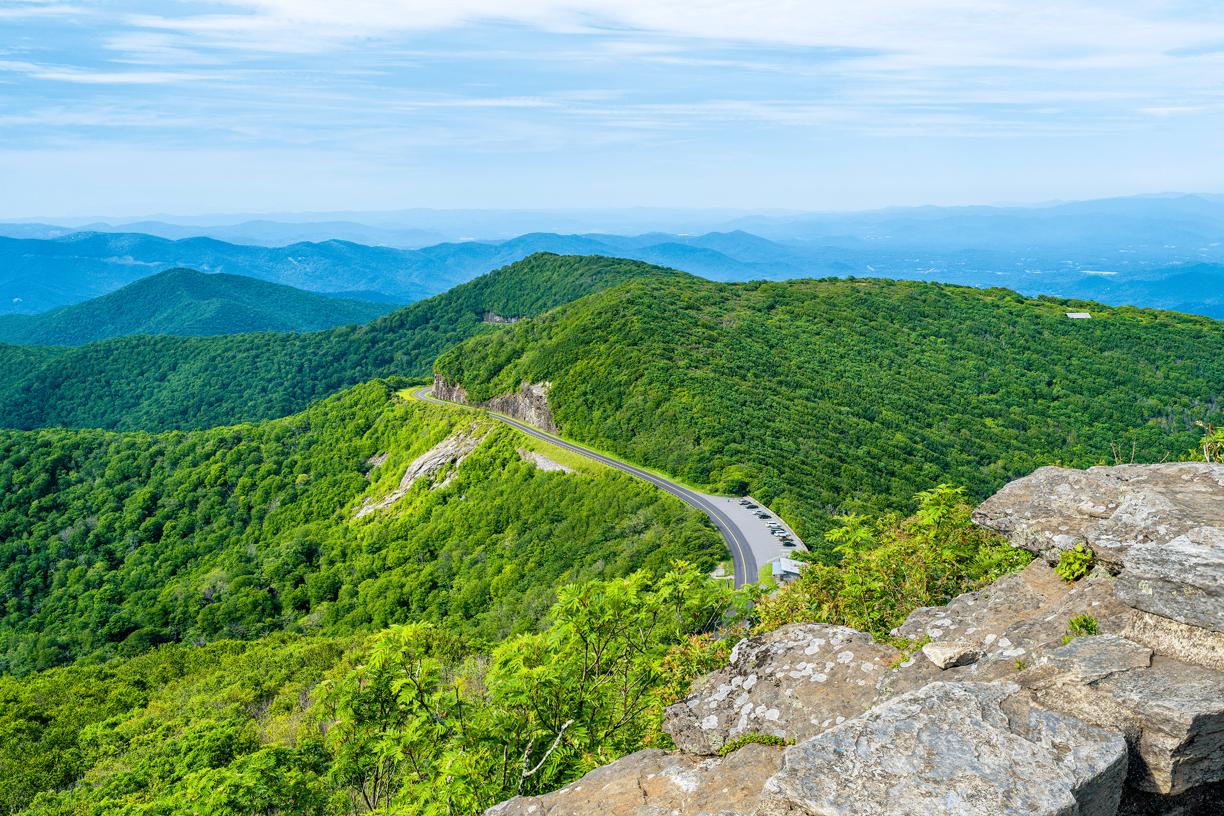 The long-range views from the  Craggy Pinnacle  observation platform at 5,892 feet (1,796 meters) are stunning.