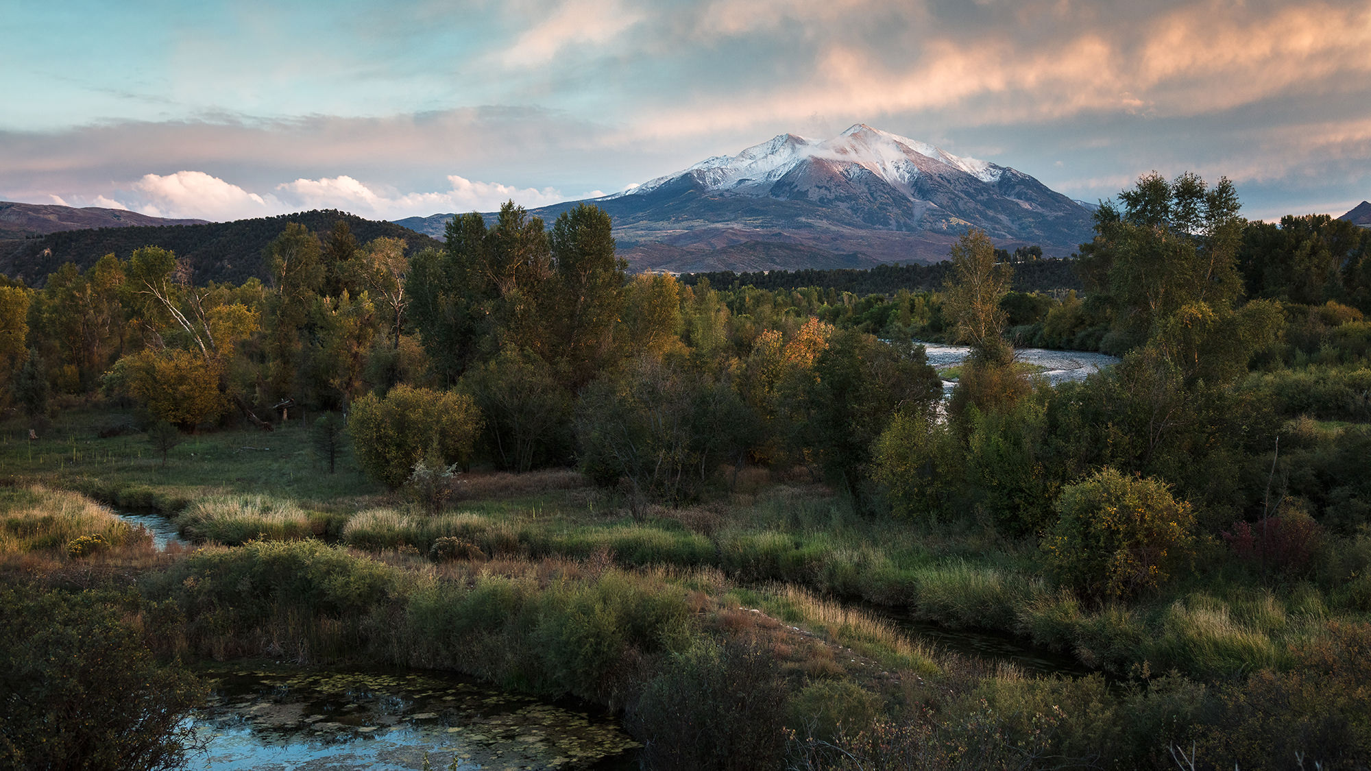 sunset over mt. Sopris - Carbondale, CO