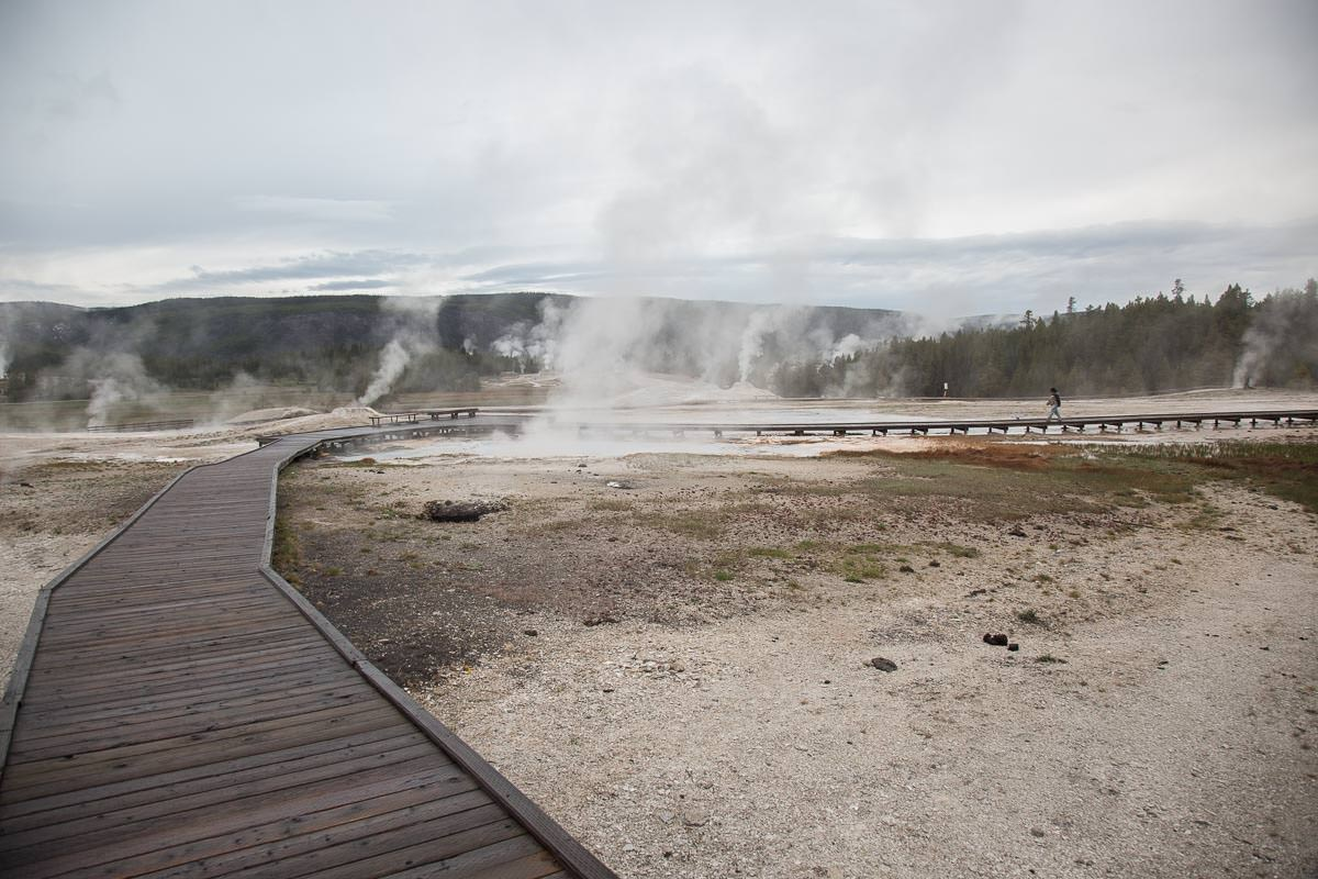Approaching Lion Geyser