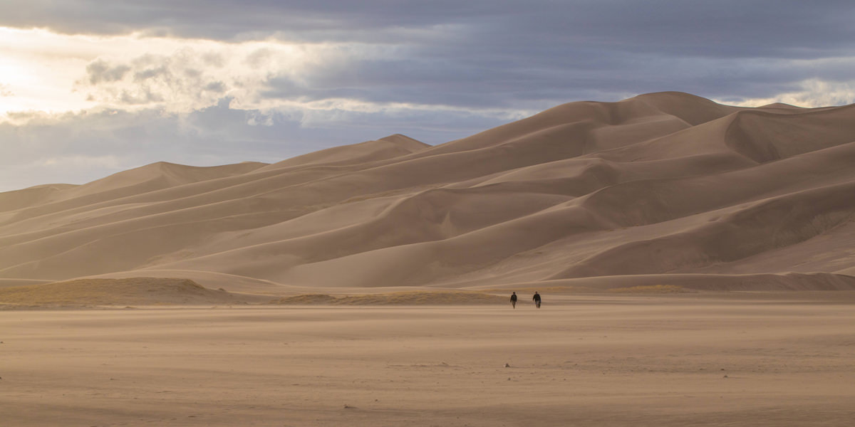 The Sand Dunes are huge