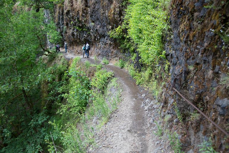 Parts of the trail are narrow and slick