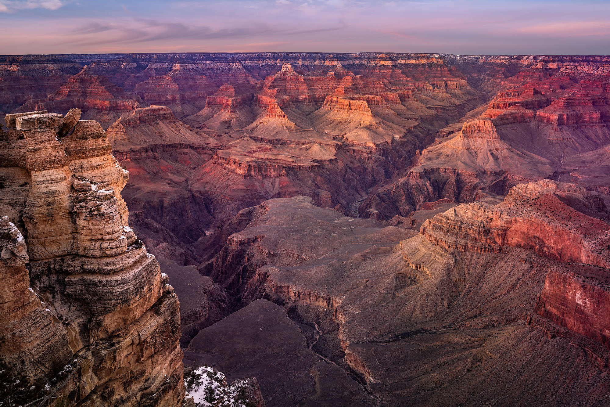 twilight near mather point - South Rim Grand Canyon, AZ