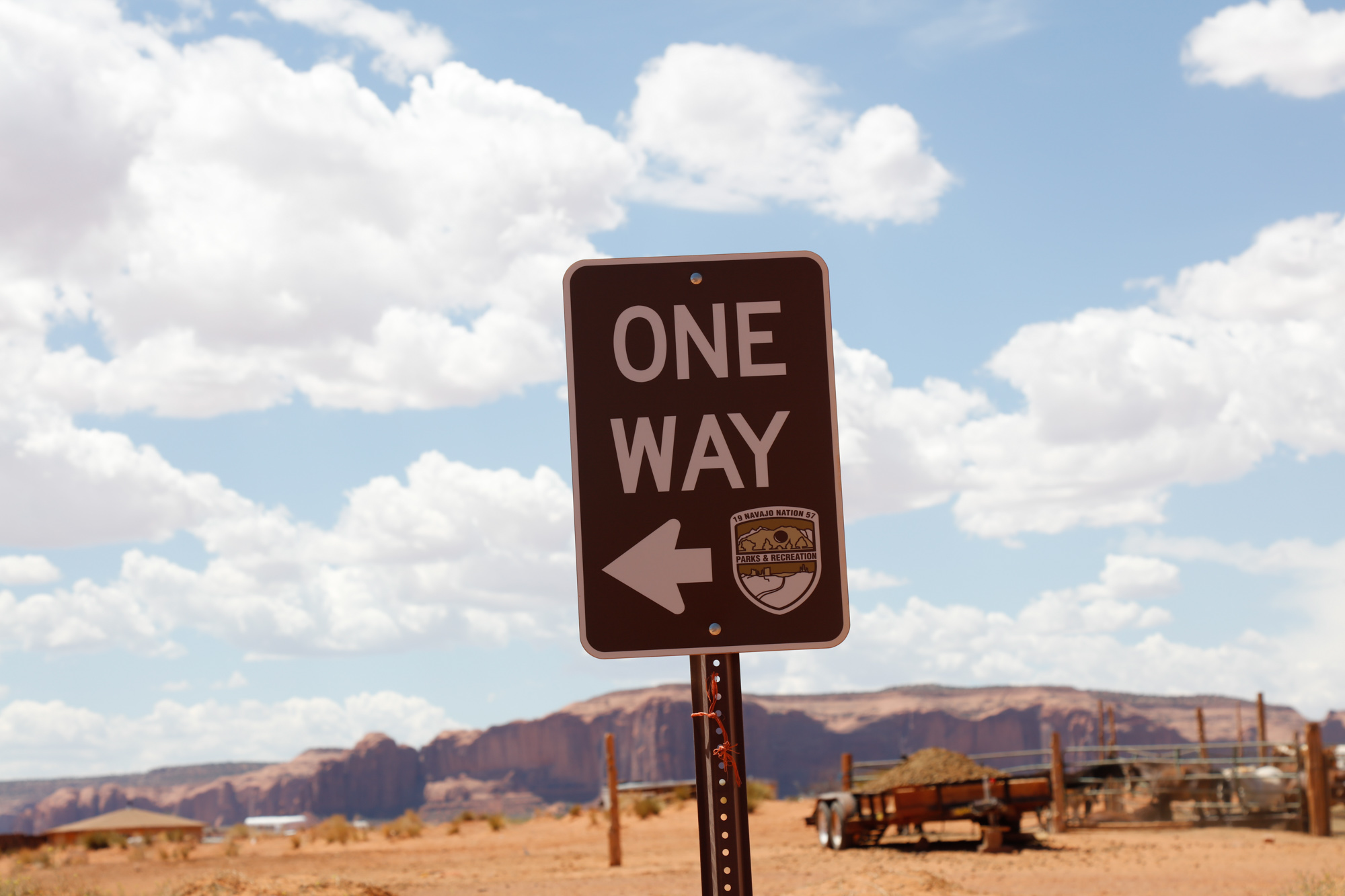 One way on the back loop