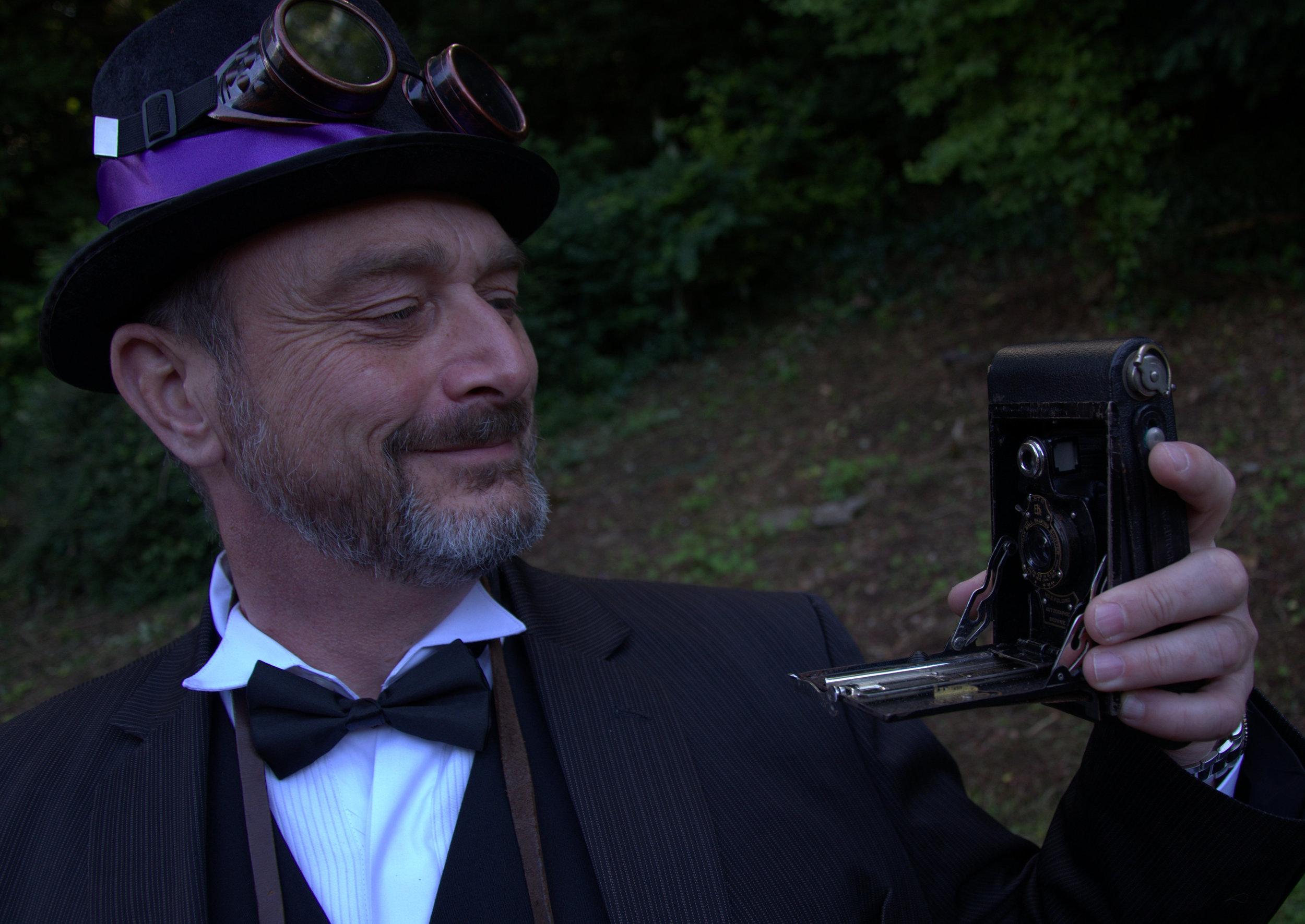 Steampunk wedding guest