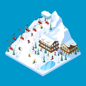 День 1 - Серия рассказывает нам, о зимнем дне, где развлекаются дети, лепя снеговика и радуясь снегу.