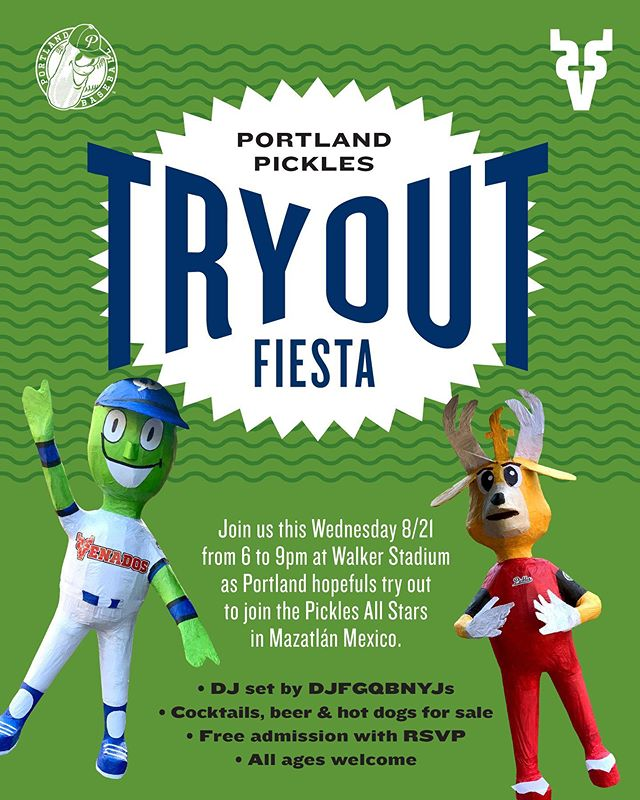 Tryouts are now a spectator sport! Beer and dogs to be available at our Tryout Fiesta on Wednesday 8/21! Music by @djfgqbnyjs. RSVP NOW for free entry at https://bit.ly/31Z4DyX #getpickled