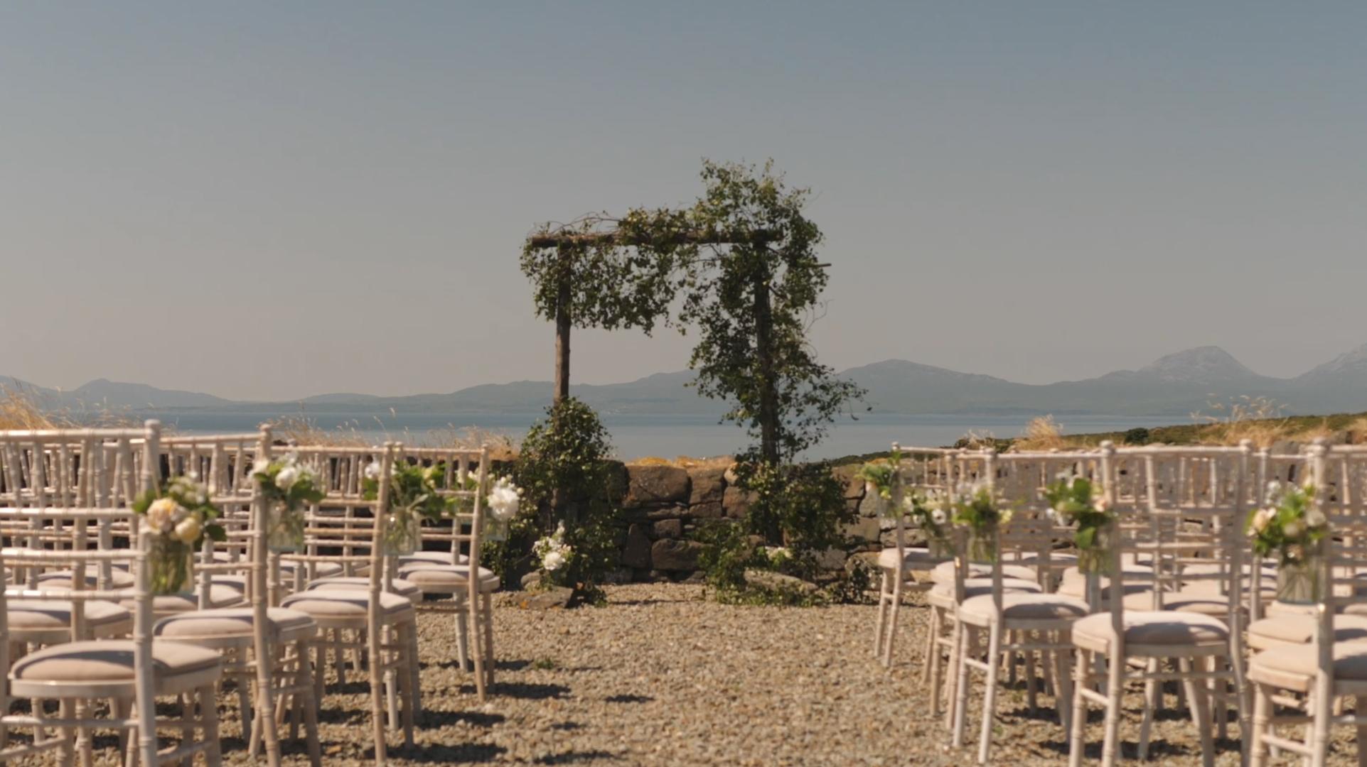 crear weddings ceremony outdoor