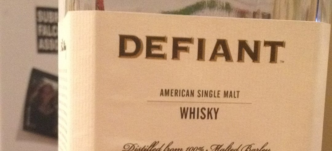 """A bottle of whiskey called """"Defiant"""" which, as the kids say, is a MOOD."""