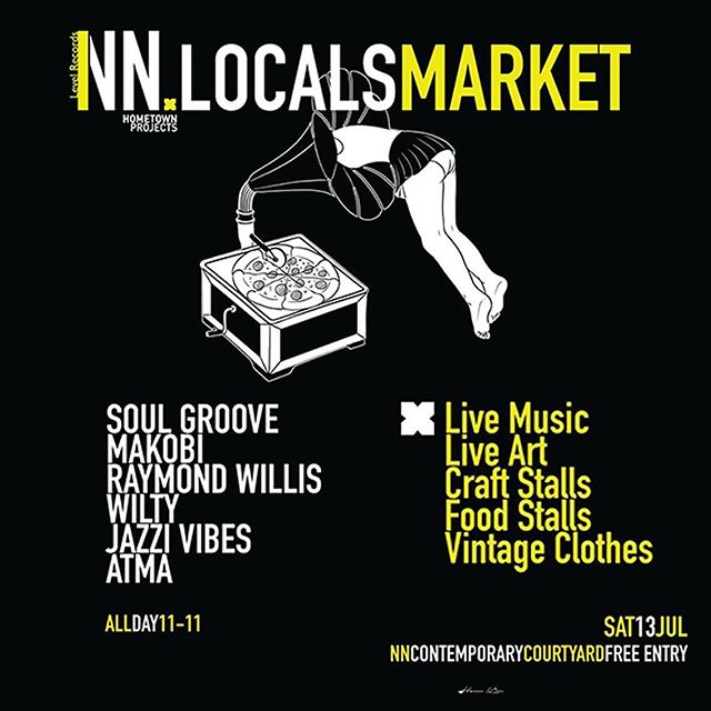 THIS SATURDAY! @hometownproj X @levelrecords 'NN LOCALS MARKET' - An all day market in @nncontemporaryart courtyard featuring food, drink, music and art! - From 11am - 11pm Level Records will ne pumping out sounds from a mixture of DJ's and live acts, all whilst artists @j_suede & @goodwill_painting provide visual entertainment. - See you there! - #LiftNN #NNLovesLocal #HometownProjects #NNCard #Northampton #Festival #Market #Event #Art #Music #Northants #LevelRecords
