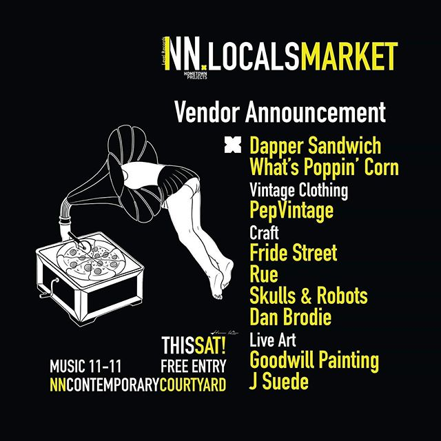 Tomorrow we've got all the good stuff at the @hometownproj x @levelrecords 'NN Locals Market' at @nncontemporaryart Courtyard. - Check the list of vendors, come grab a drink, have a hip wiggle and drop your favourite 2-step, from 11am - 11pm all whilst the incredible guys @goodwill_painting & @j_suede display their talents! - See you all tomorrow! - - - - - #NN #LiftNN #Northampton #Northants #NNCard #HometownProjects #LevelRecords #Music #Drink #Party #Local #Festival #Market  #Independent