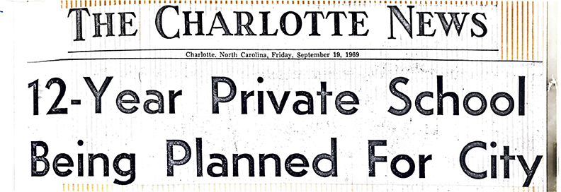 1969 Announcement of New Private School from  The Charlotte News