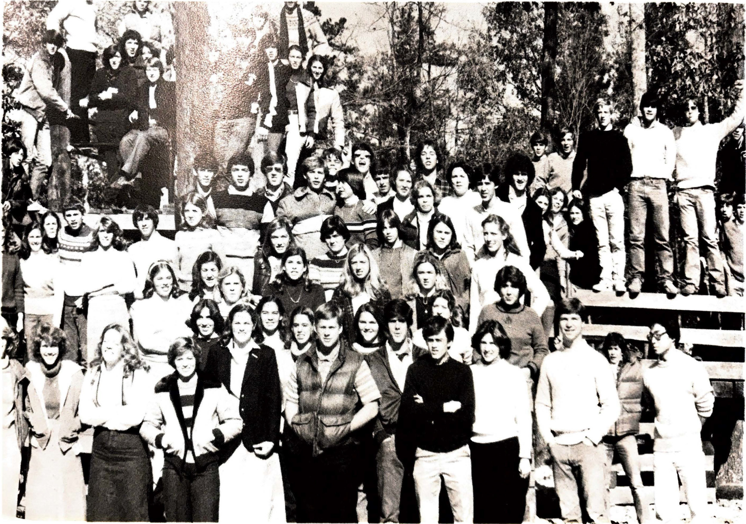 Upper School students in 1980