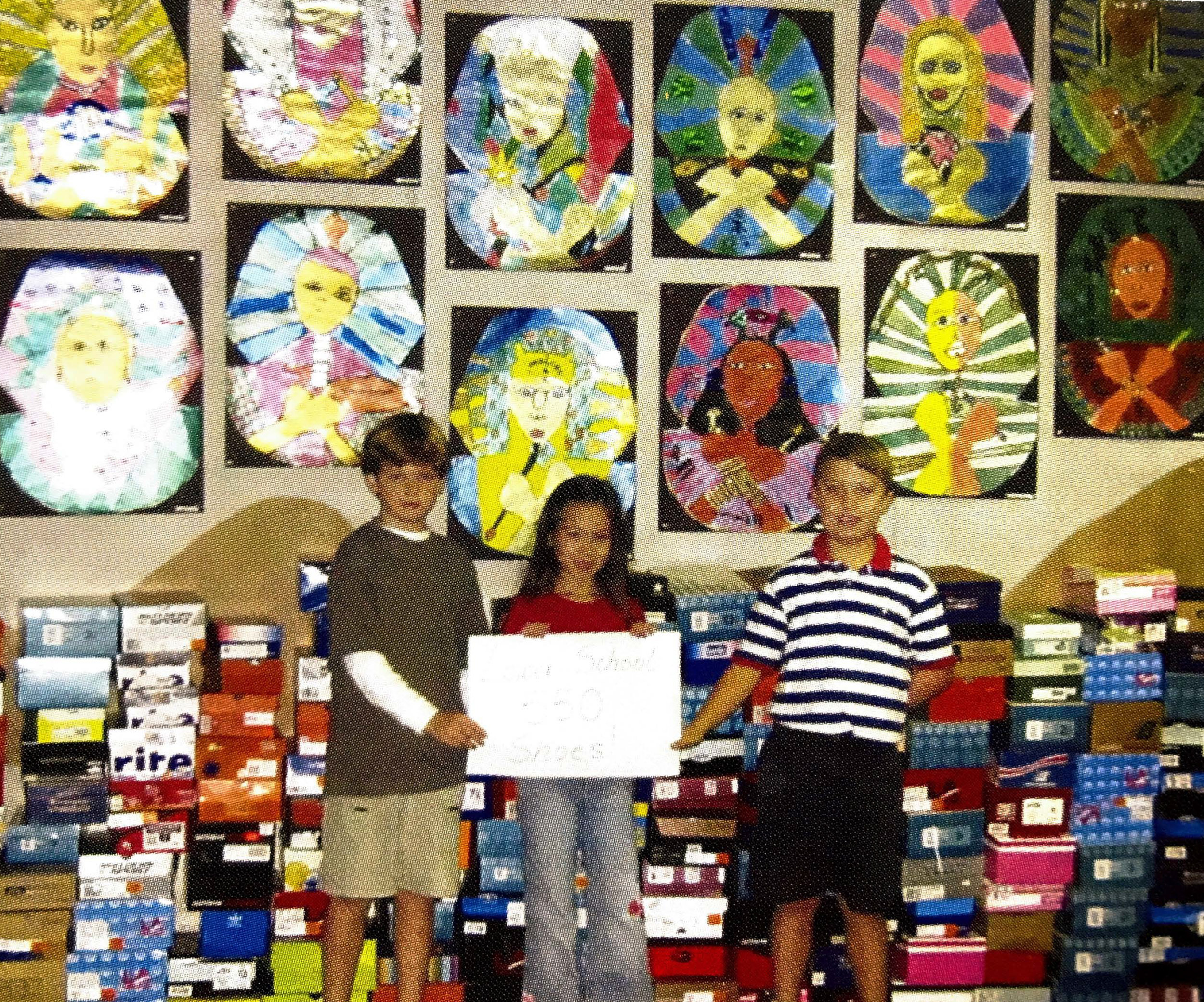 Latin's first All-School Thanksgiving service project supported Shoes of Hope.