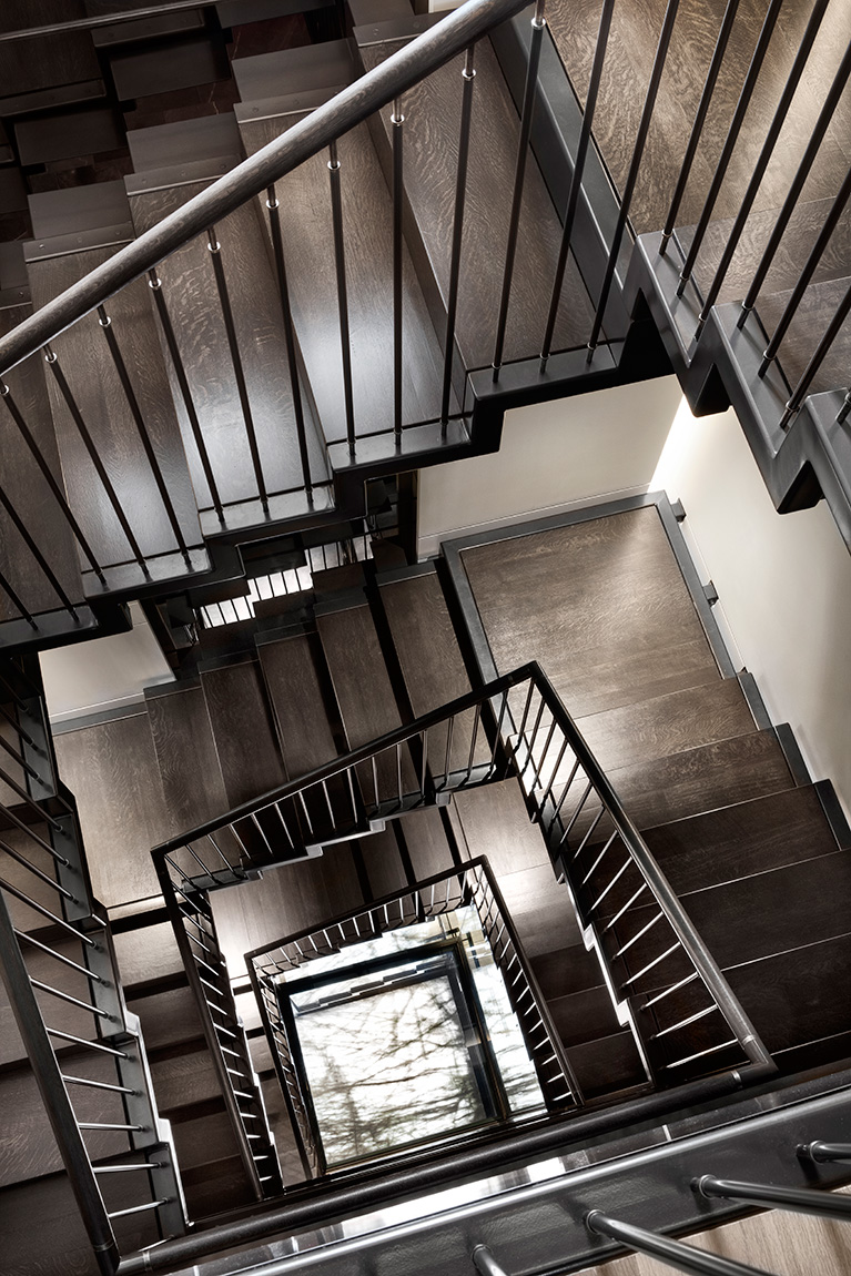 A striking Rosedale staircase by Basis Design Build.  Lisa Petrole