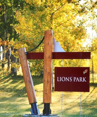 Municipal parks sign