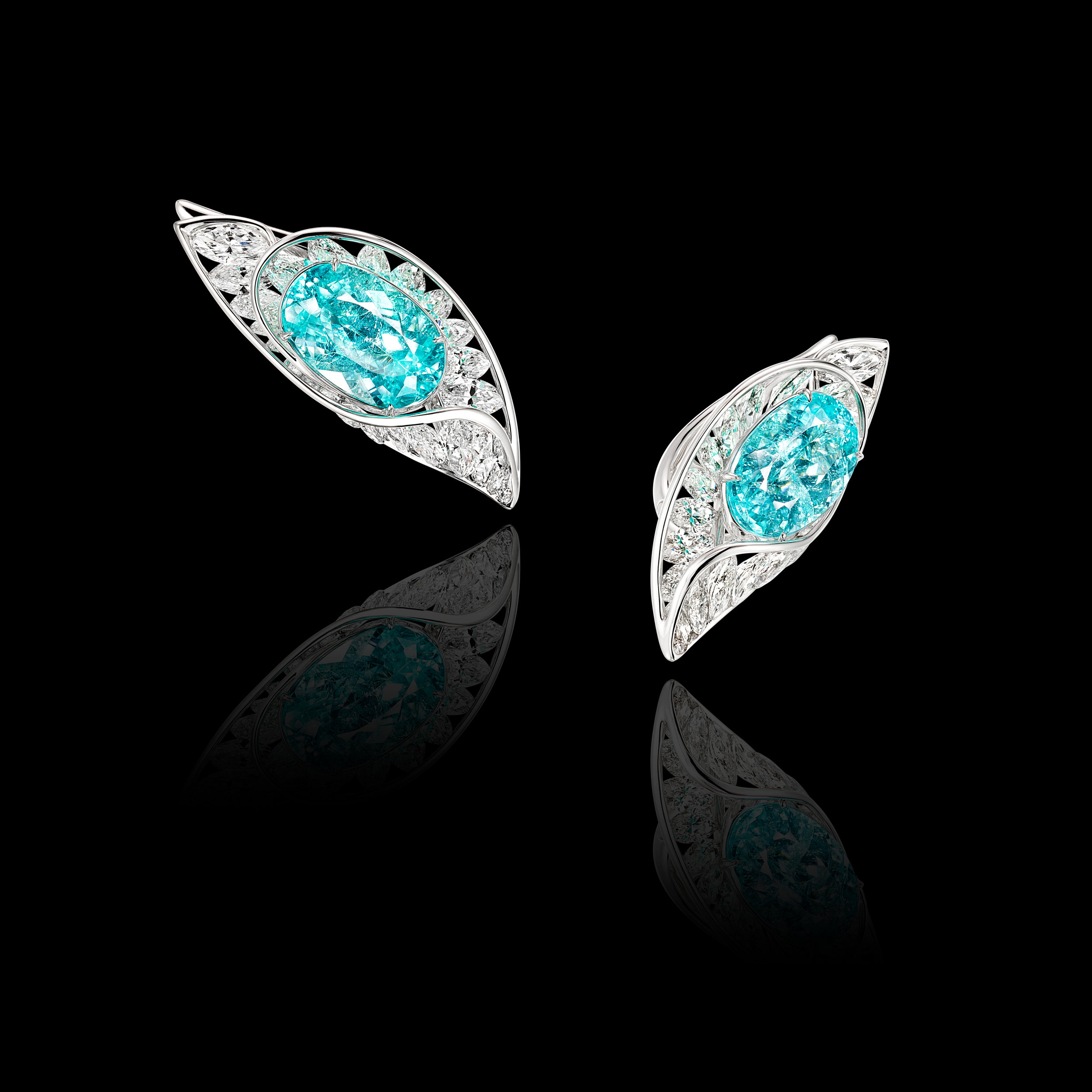 Paraiba & Diamond Earrings