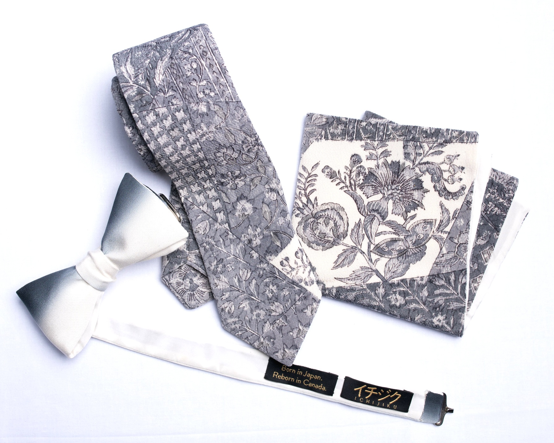 Series 1 bow tie, necktie and pocket square