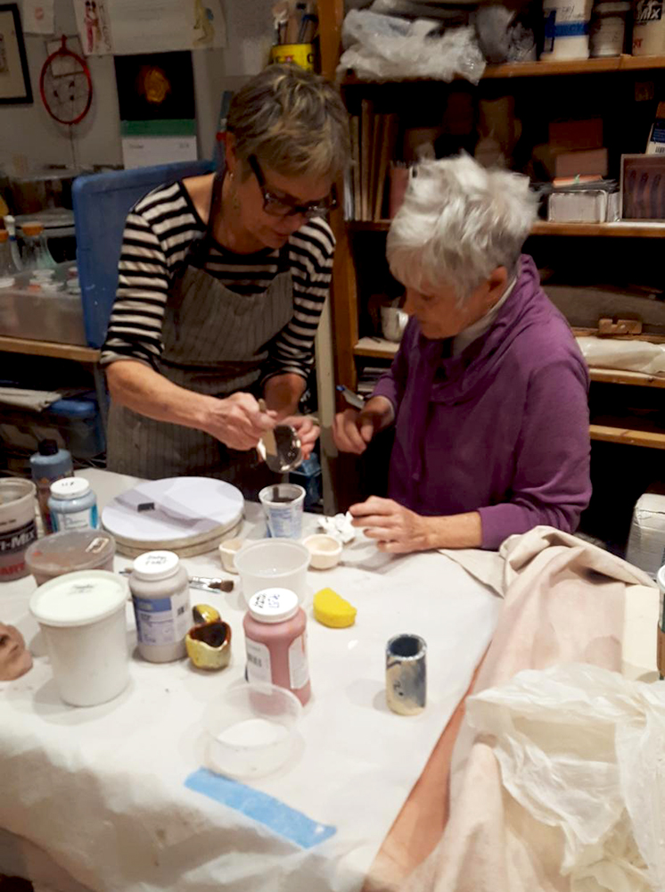 Visiting artist, Pauline Miller