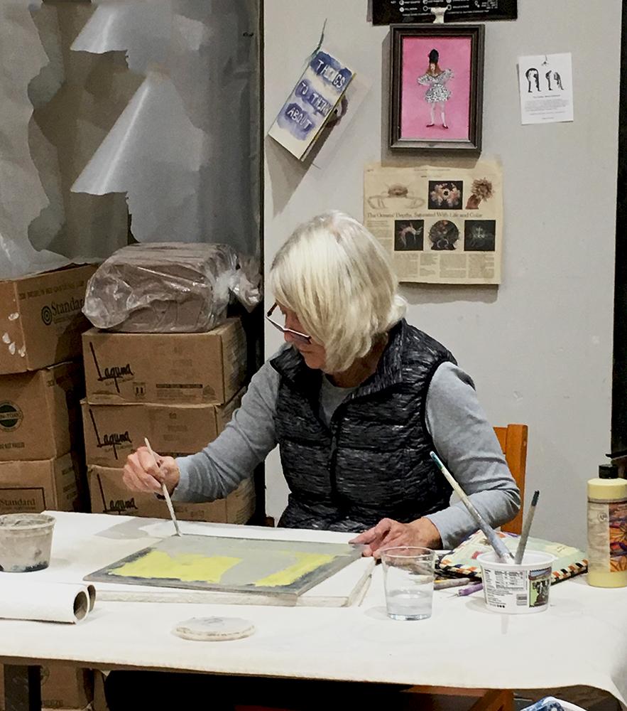 Artist in resident, Patty Klamser, Fall 2018