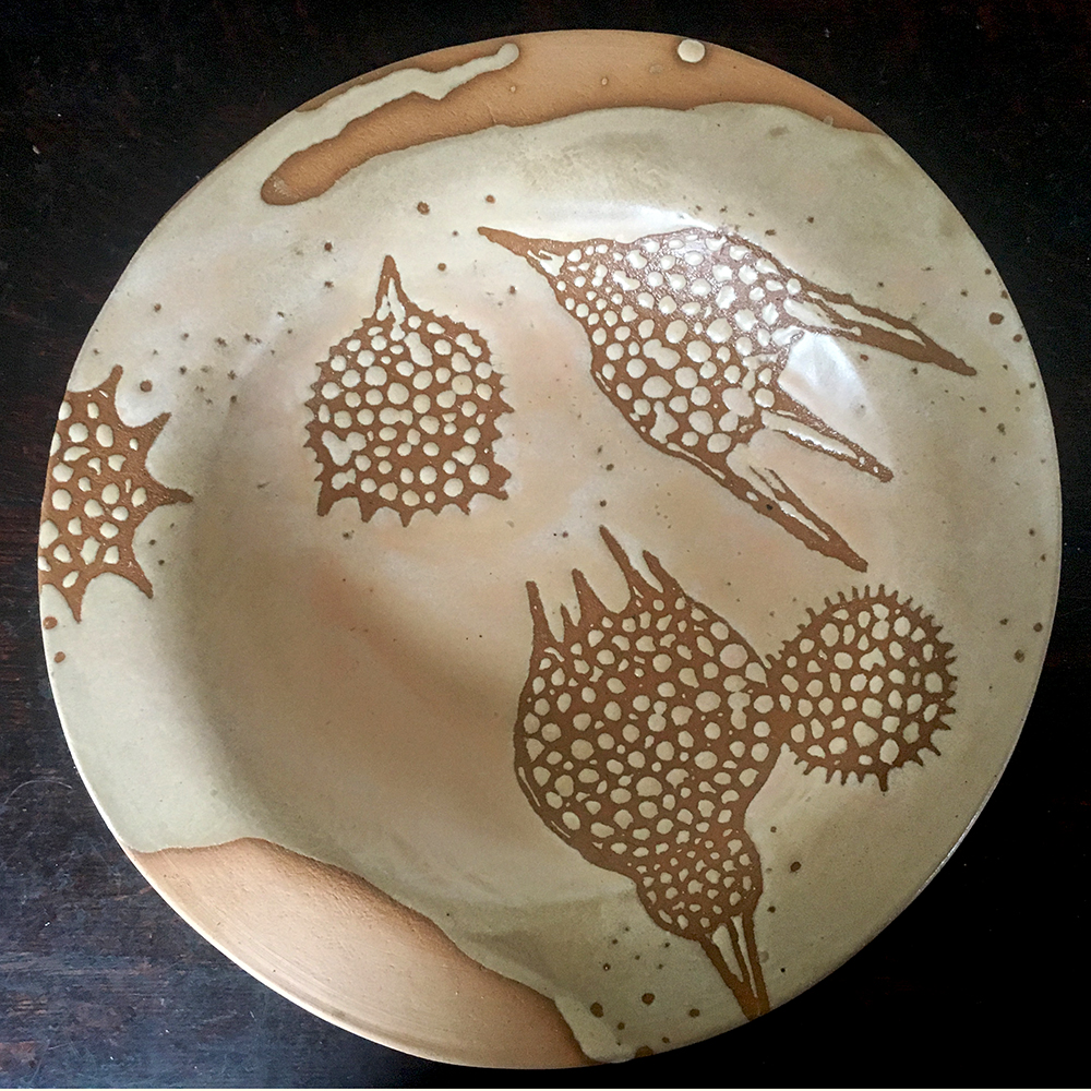 low bowl in créme brûlée on blush clay