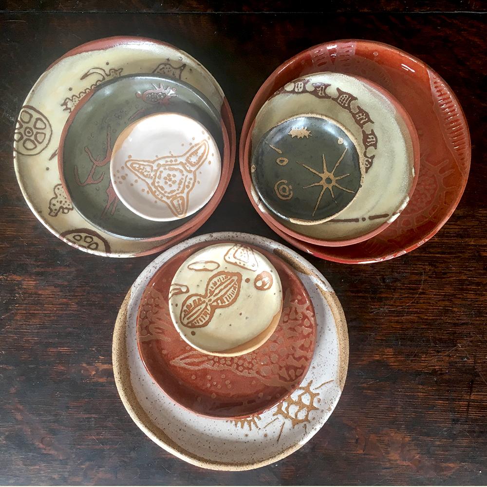 "sampling of plates 3"", 5"" & 7"""