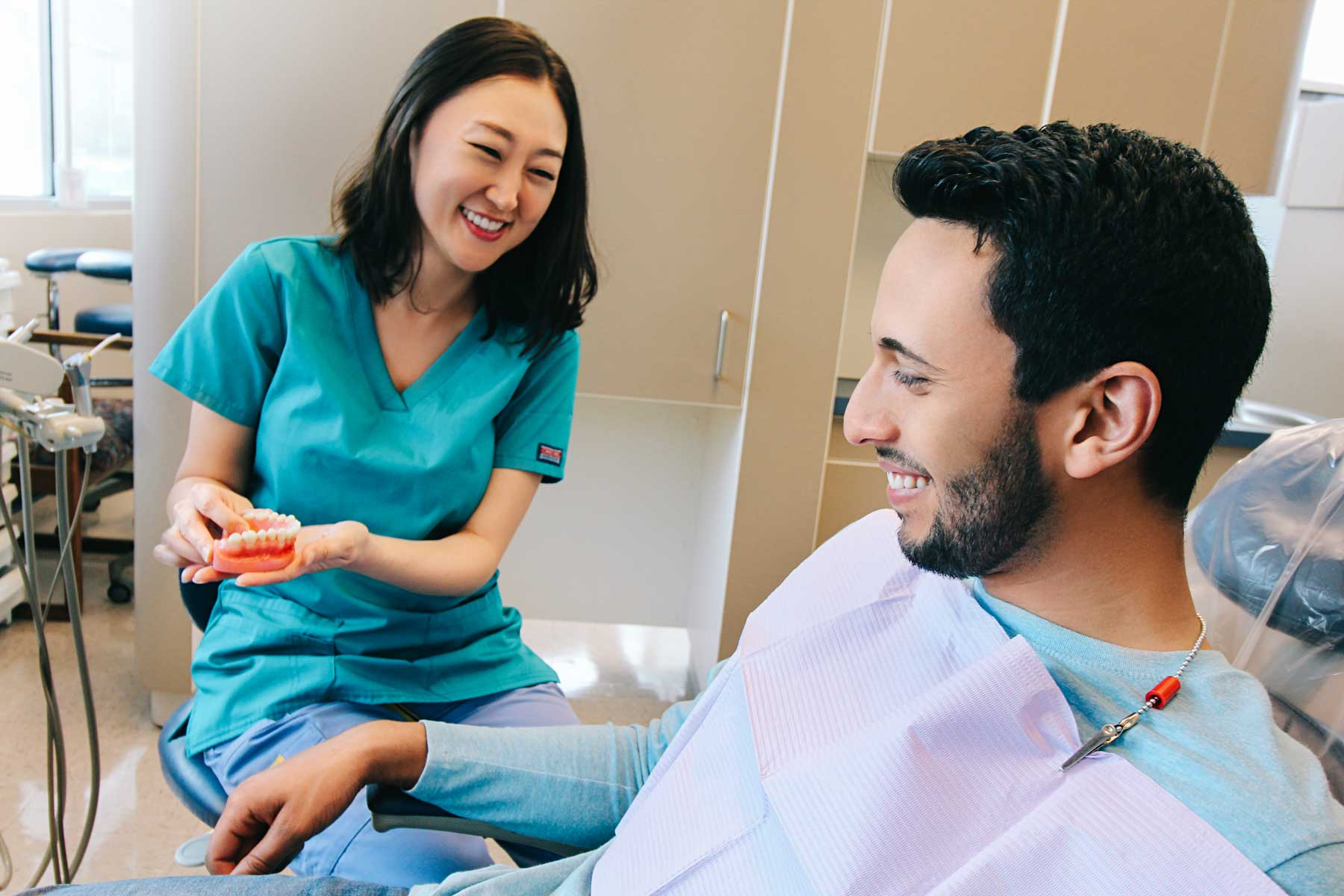 Fall in love with your smile - We care for your oral health as much as you do. Stop by at our clinic and bring the family for a full range of services and procedures.