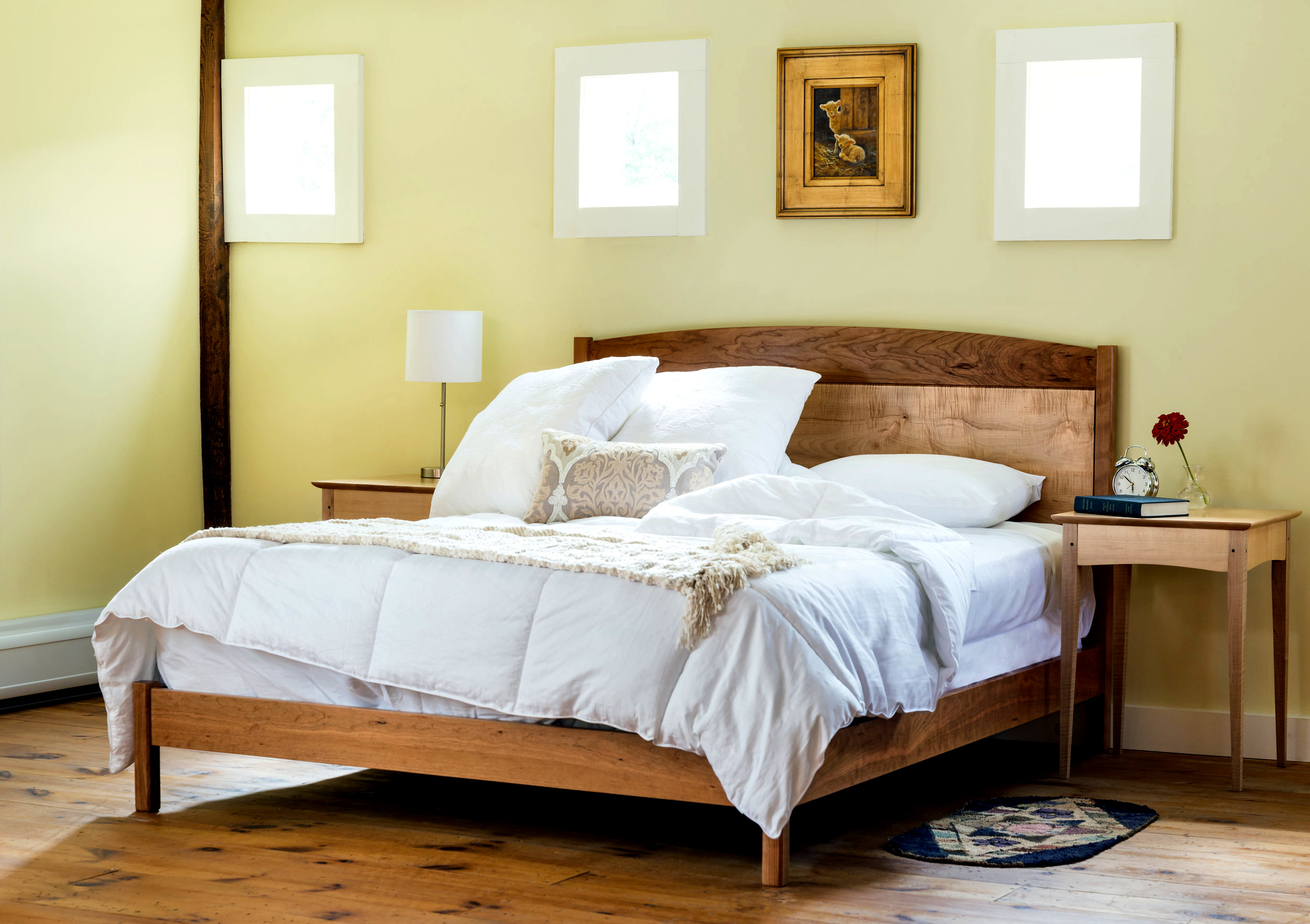 bedroom-furniture-cherry-wood-bed
