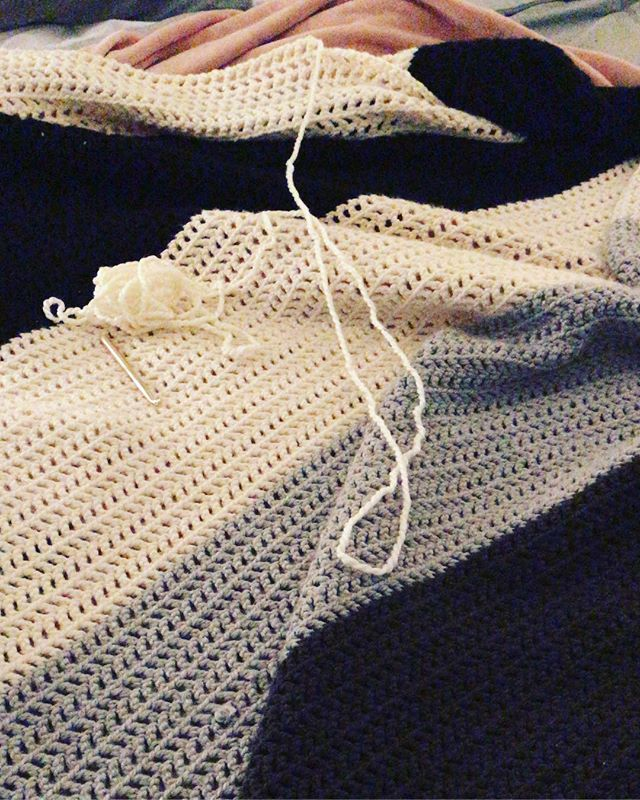 Crocheting on a rainy day. Yaren't you jealous 🧶 🌧 #crochet #crafty #yarnstagram #blanket #crochetersofinstagram