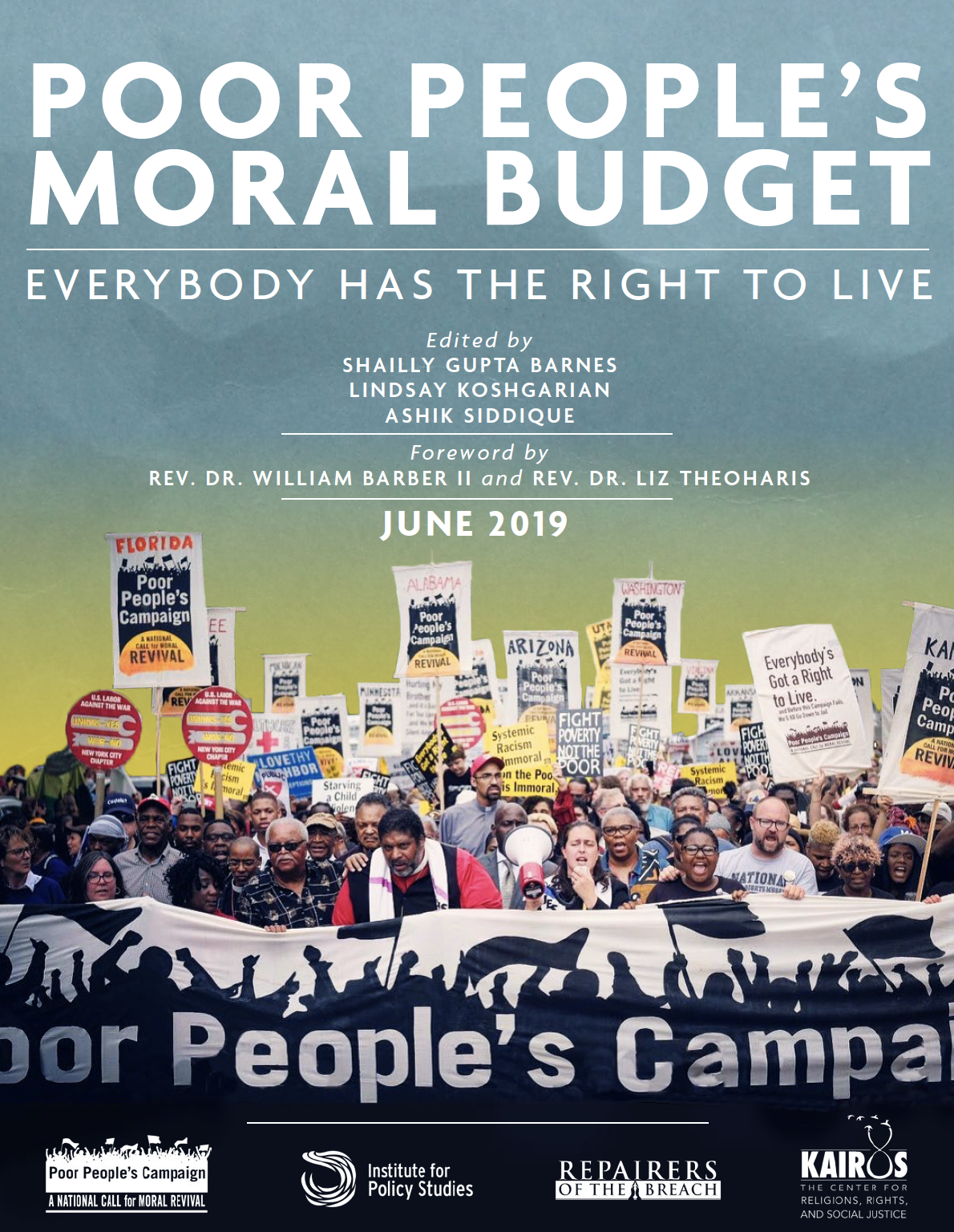 Moral Budget - In April 2018, the Poor People's Campaign: A National Call for Moral Revival released a Moral Agenda and Declaration of Fundamental Rights. The demands contained within that document present a comprehensive response to the systemic racism, poverty, ecological devastation, militarism, and war economy plaguing our country today. For the 140 million people who are poor, or one emergency away from being poor, we know these demands are necessary. This Poor People's Moral Budget asks, given the resources of our society, whether these demands are also possible. Our answer is a resounding yes.