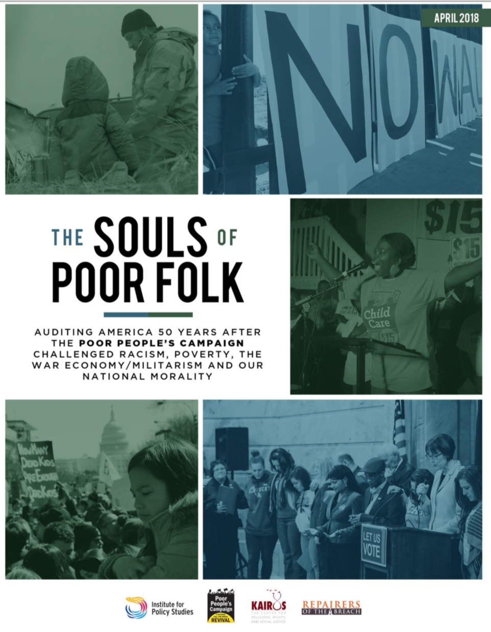 Moral Audit - The Souls of Poor Folk: Auditing America 50 Years After the Poor People's Campaign Challenged Racism, Poverty, the War Economy/Militarism and Our National Morality traces the 50 years since 1968, when Rev. Dr. Martin Luther King, Jr., and thousands of Americans, alarmed at their government's blindness to human need, launched the Poor People's Campaign.