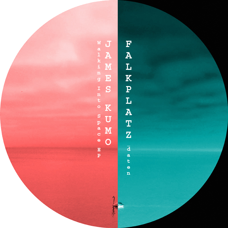 walking into space ep - label artwork - Released on Falkplatz Records (Berlin, Germany).