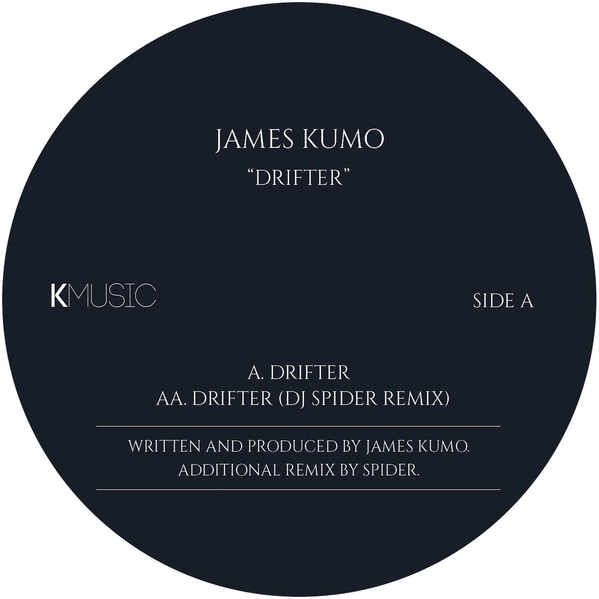 DRIFTER EP - LABEL ARTWORK - Released on KMusic (Manchester, UK).