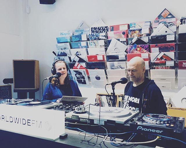 Danny Krivit being interviewed at @rushhourstore for ADE. ... #dannykrivit #ade #rushhourrecords #nyc #disco #amsterdam