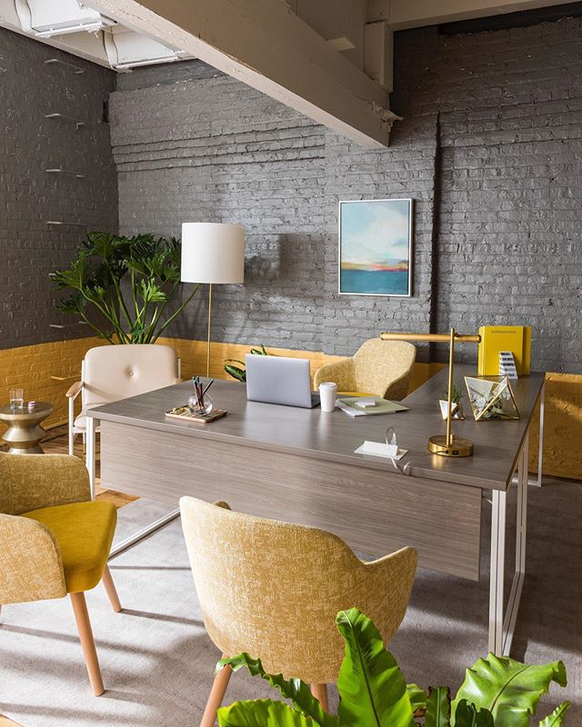 This summer, we furnished the office of a real estate firm in Chicago's Fulton Market District. Head to WestElmWork.com (link in bio) to see more of this working showroom and our home base for NeoCon 2019. #westelmWork