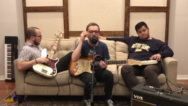 """Jammin' @hallandoatesofficial's """"I Can't Go For That (No Can Do)"""" with @casey_paul_newton on bass and @brycerivera75 on #omnichord • • • • • #highonguitar #guitar #guitarist #musician #guitarskills #music #guitarcover #pickupjazz #lickwars #riffwars #instamusic #dailymusicians #musiciansdaily #instaguitar #fenderguitar #talentedmusicians #guitarstagram #stratocaster #coversong #hallandoats #icantgoforthat #lkldmusic #brilliantmusicians  #instabass #thevanguardroom"""