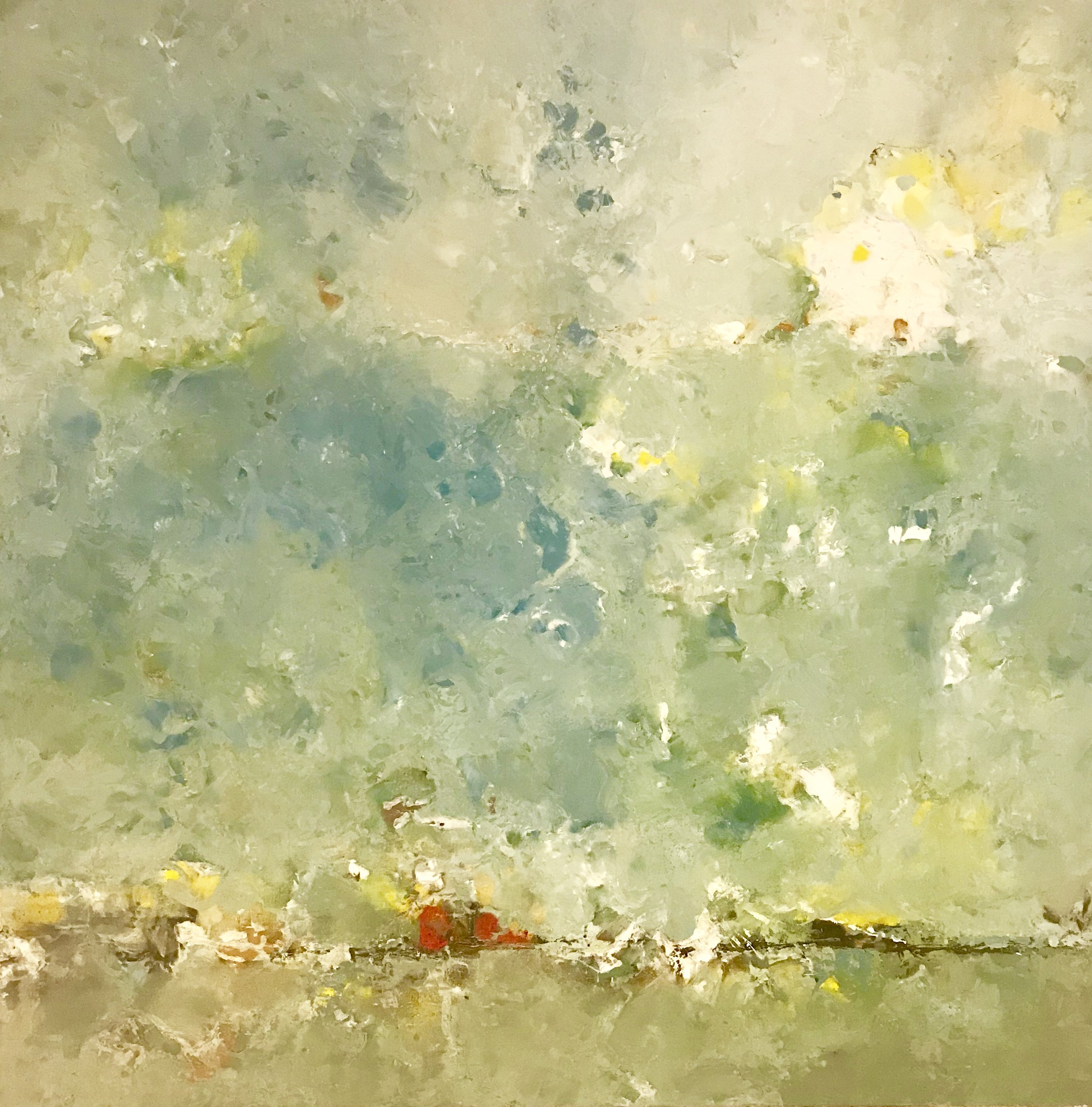 "FARMLAND - Wax, 48"" x 48"""