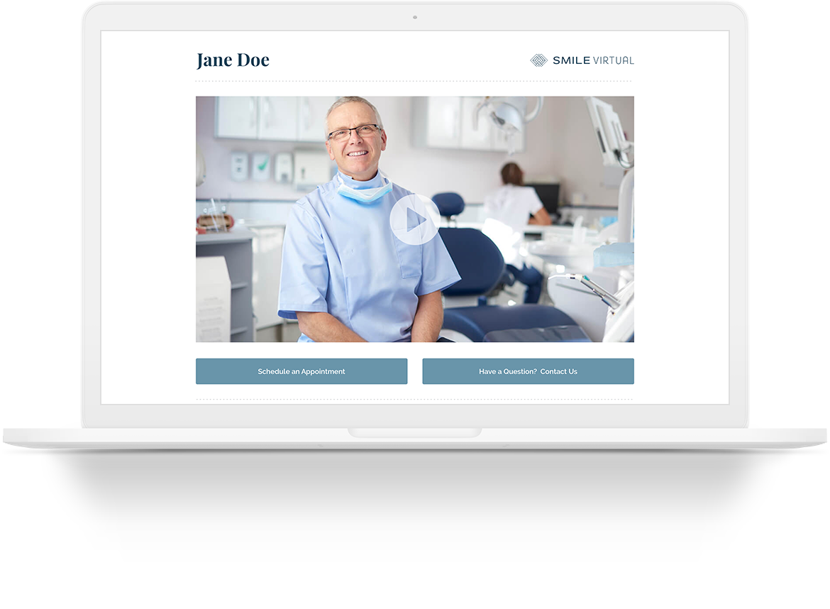 Stop Waiting For New Patients to Come to You. Go to Them! - With Smile Virtual, patients can simply upload a photo of their smile and share their concerns with you through your custom landing page. Once you receive the lead, you are able to record a video with your recommendations and they are able to watch it from the comfort of their home. What once took you an hour of chair time, now takes you minutes.