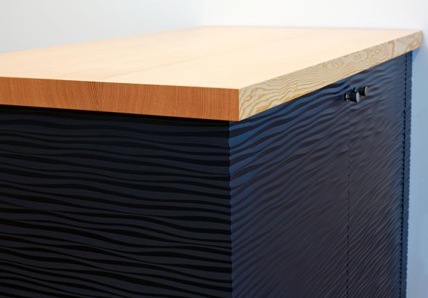 Carved Black Cabinet