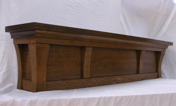 Fumed Oak Fireplace Mantle