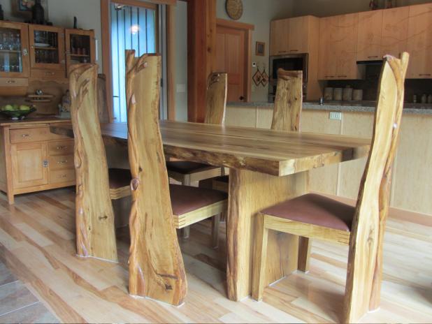 Garry Oak Dining Set