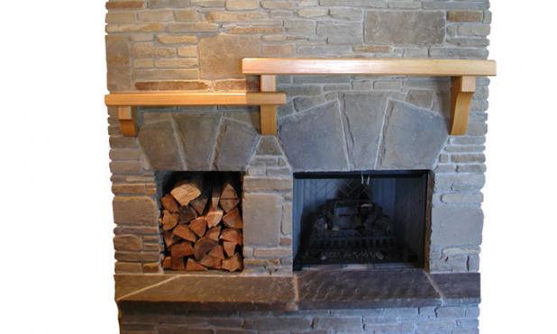 Timber Fireplace