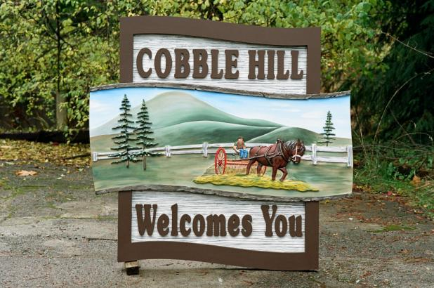 Cobble Hill Welcome Sign
