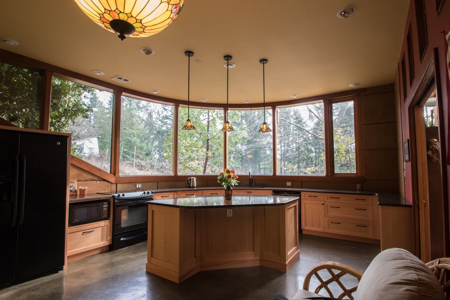 Chloe Beam & Guy Walker - (Client)Project Date: December 2018, Project Price: $10,000 - $49,999Last year, 2018, we enlisted Cowichan Woodwork to do the centre island & the cupboards & counters in our kitchen and pantry. Jen was our design consultant on the project.It was not a straightforward job as the counter of our kitchen is along a rounded wall.From the beginning, Jen approached the job with confidence, and skillful attention to detail. We found she listened well to our desires and yet when we were indecisive, she would step up and offer advice and alternatives. We learned to trust her wisdom and yet we always felt creatively involved in the project. There were times when quick decisions had to be made, and she was readily available, patient and helpfully involved.We pushed the deadline towards the end, an important family event was approaching, and Jen made the kitchen all come together on time. So yes, our experience working with Cowichan Woodwork and Jen is very positive and I might also add, the cupboards and counters are beautifully well crafted.